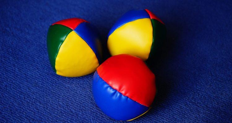 Klassische Jonglierbälle