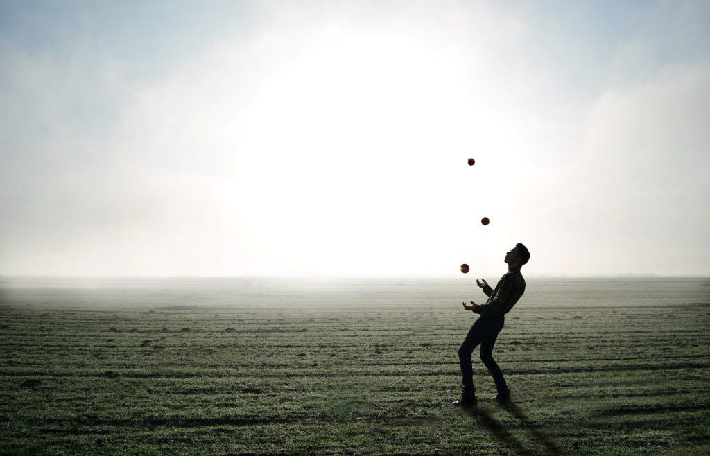Jonglieren im Freien