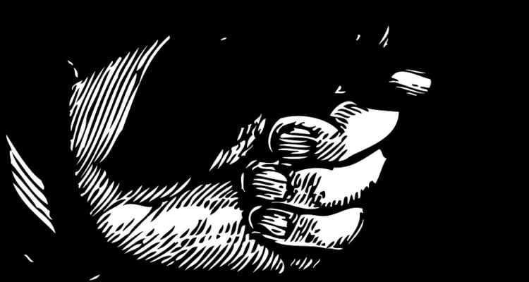 cartoon finger rechts